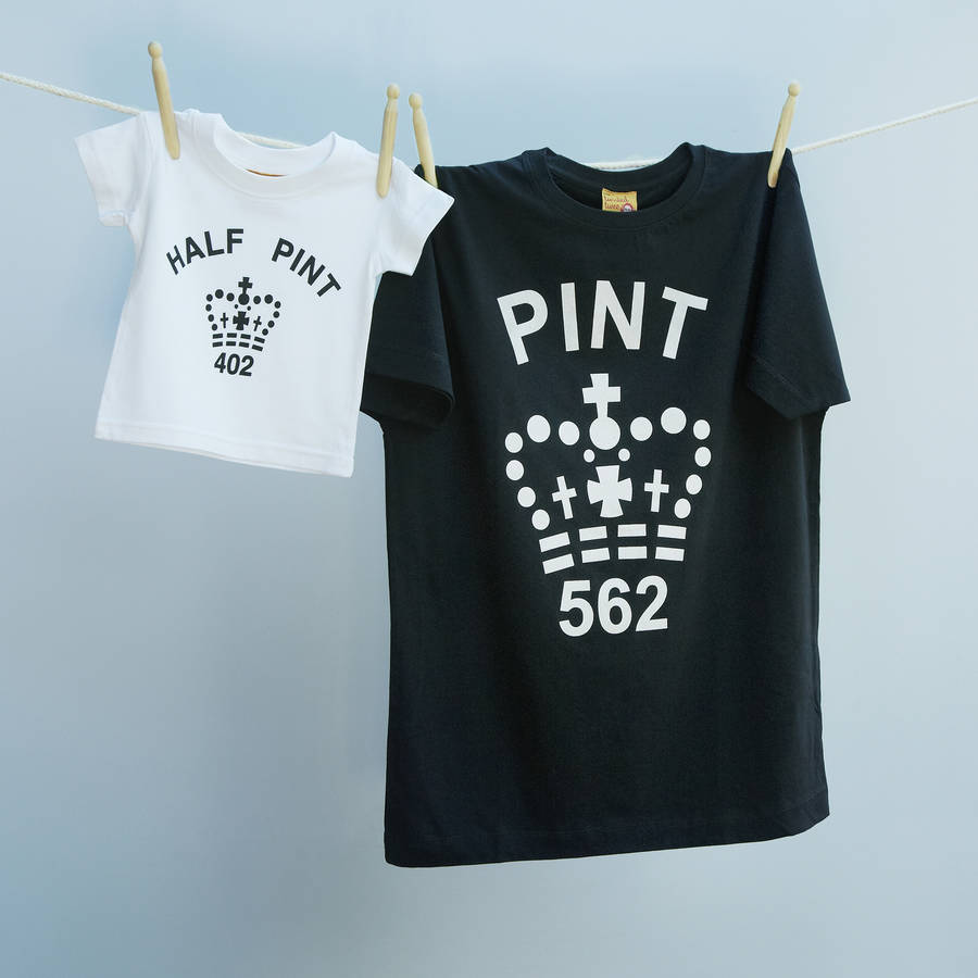bd547784 homepage > TWISTED TWEE > FATHER'S DAY MONOCHROME PINT AND HALF PINT T  SHIRT SET. Pinch to zoom. I'm in! mixed white and black pint twinset