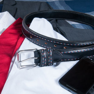 Handstitched British Spirit Raised English Leather Belt - belts