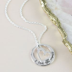 'I Love You More' Charm Necklace