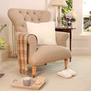 Chatsworth Linen Footed Armchair