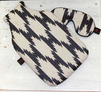 Hot Water Bottle Luxury Tribal Jaquard