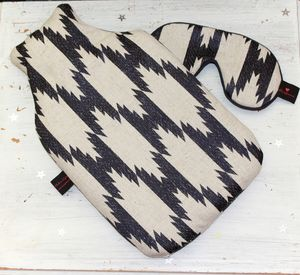 Hot Water Bottle Luxury Tribal Jaquard - hot water bottles & covers