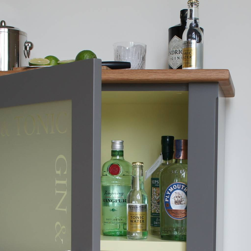 Marvelous Gin And Tonic Drinks Cabinet In Choice Of Colours