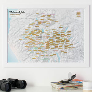 Scratch Off Wainwright Hill Bagging Print - posters & prints