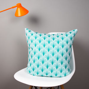 Geo Leaf Organic Cotton Cushion - home sale