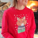 Personalised Cat Lover Christmas Jumper
