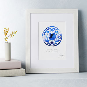 Personalised Paper Cut Birthstone Print - personalised gifts