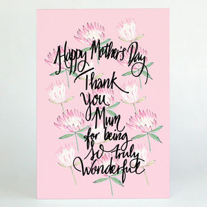 Floral Mother's Day Card - what's new