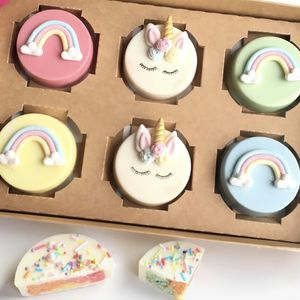 Unicorn And Rainbow Cakelet Gift Box - unicorns