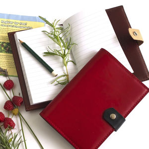 Leather A6 Notebook - notebooks & journals