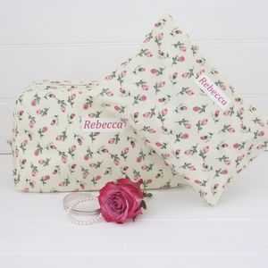 Personalised Wash Bag And Cosmetic Bag Set - make-up bags