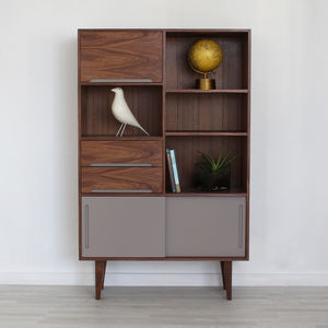Edgeware Handmade Walnut Bookcase - office & study