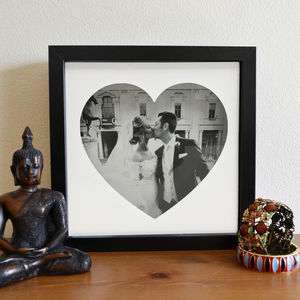 Personalised Photo And Shape 3D Box Frame - picture frames