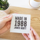 Personalised Glass Birthday Year Coaster