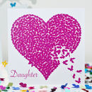 Butterfly Daughter Birthday Card, Kaleidoscope Card