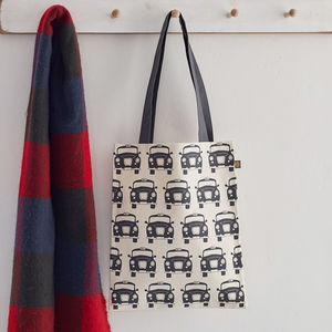 Black Taxi Canvas Bag
