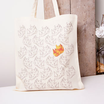 Origami Animals Rhino Tote Bag