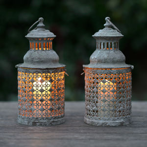 Amalfi Lattice Garden Lantern - lights & lanterns