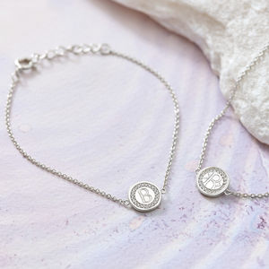 Personalised Silver And Cubic Zirconia Bracelet - gifts for her
