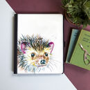Inky Hedgehog Tablet Case With Stand