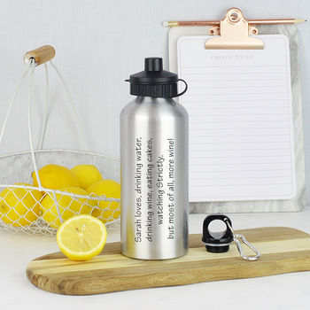 Personalised Things They Love Water Bottle