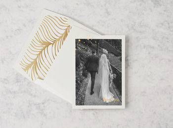 'Flock Of Gold': Personalised Wedding Thank You Cards