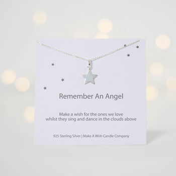 Make A Wish To Remember An Angel Necklace