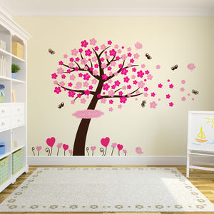 Princess Blossom Tree Wall Stickers - baby's room