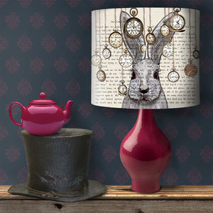 Alice In Wonderland White Rabbit Lampshade - children's lighting