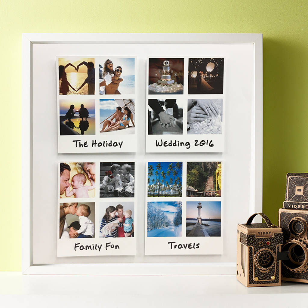 Personalised Large Retro Occasion 3D Framed Print