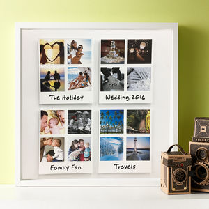 Personalised Large Polaroid Occasion 3D Framed Print
