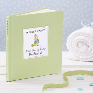 The Personalised Peter Rabbit Little Book Of Virtue - gifts for babies