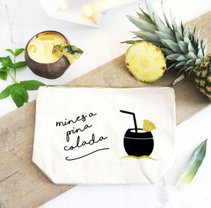 'Mines A Pina Colada' Glittery Cocktail Bag - purses
