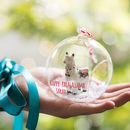 Personalised Glass Llama Bauble Decoration