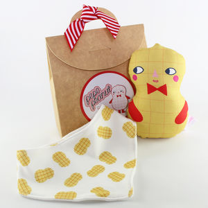 Baby Rattle And Bib Gift Set - gift sets