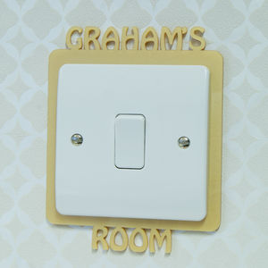 Personalised Name Light Switch Surround - new in home