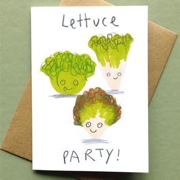 Lets Party Card Lettuce Party Card
