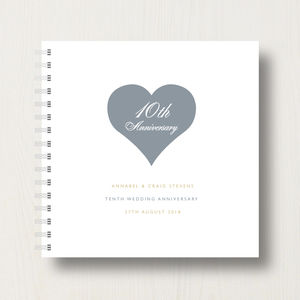 Personalised 10th Anniversary Album - 10th anniversary: tin