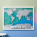 Scratch Map ® Oceans World Map Poster