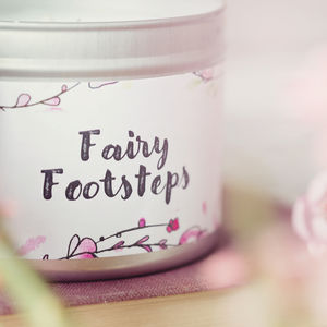 Daisy And Dot Fairy Footsteps Tin Candle