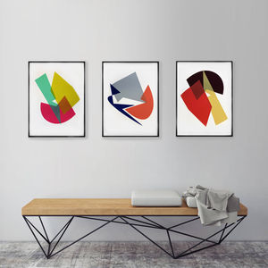 Triptych Of Geometric Prints - posters & prints