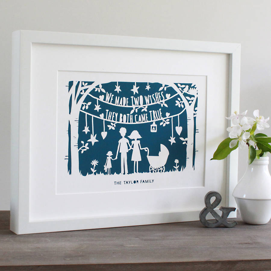 Wishes Fine Art Print Or Original Papercut In Mount