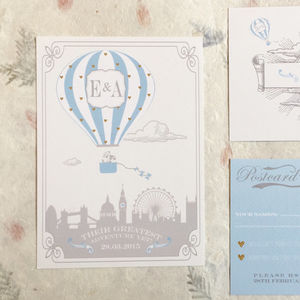 'Adventure In The Clouds' Wedding Invitation - weddings sale