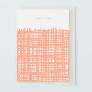 'Thank You' Card Coral