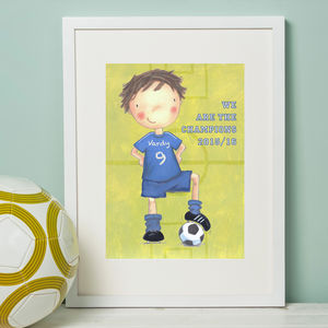 Leicester City Football Print - baby's room