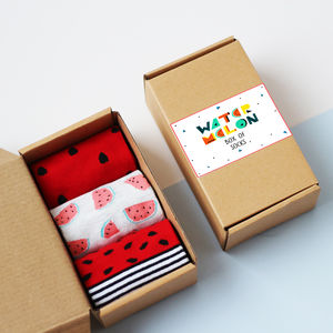 Watermelon Box Of Socks - gifts for teenagers