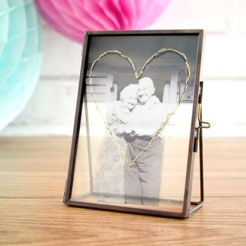 Personalised Golden Wedding Embroidered Photo Frame