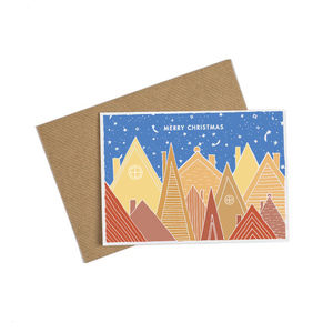 Alpine Christmas Village Card