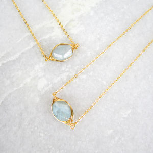 Aquamarine Jewellery Set March Birthstone - spring brights