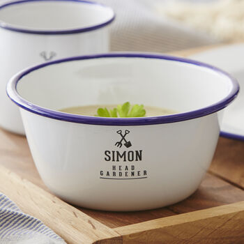Enamel Personalised Gardener's Bowl